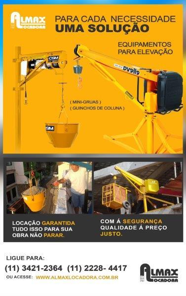 Locação de equipamentos para construção sp