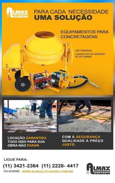 Locação de equipamentos em Taboão da serra